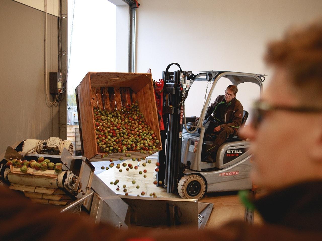 Bio Produktion Saft pressen Pankrazhofer Muehlviertel