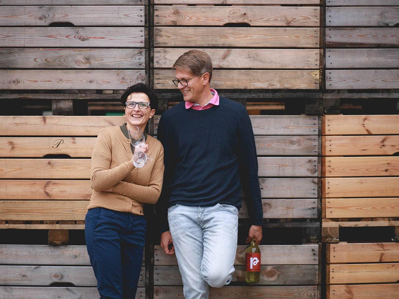 Eva und Norbert vom Pankrazhofer Bio Most Genuss Tragwein quer