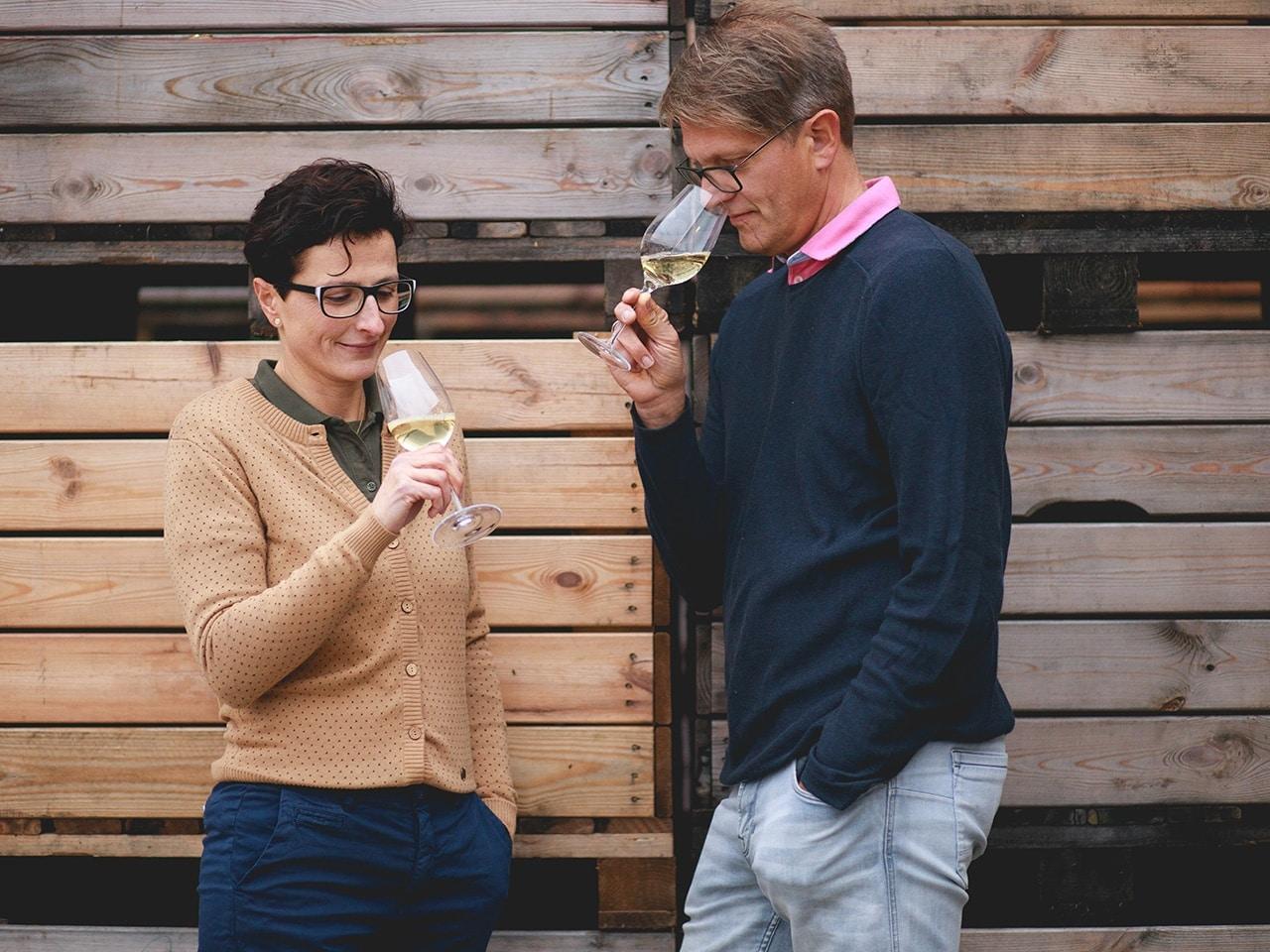 Eva und Norbert vom Pankrazhofer Bio Most Genuss Tragwein
